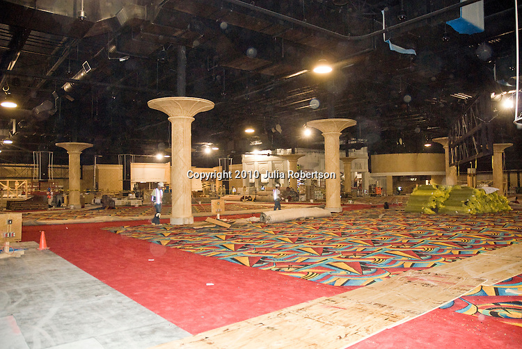 Cianbro's Construction Progress of Hollywood Casino Interior as seen on July 8th 2010