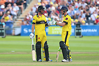 Cameron Bancroft (L) and Ian Cockbain of Gloucestershire during Gloucestershire vs Essex Eagles, NatWest T20 Blast Cricket at The Brightside Ground on 13th August 2017