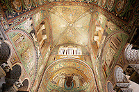 Mosaici nell'abside della Basilica di San Vitale a Ravenna<br /> Mosaics in the apse of the Basilica of San Vitale in Ravenna, with mosaics in apse.<br /> UPDATE IMAGES PRESS/Riccardo De Luca