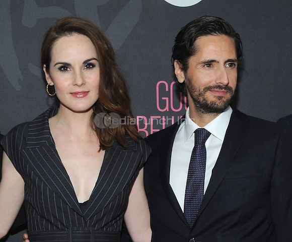 NEW YORK, NY - NOVEMBER 14:  Actress  Michelle Dockery and Juan Diego Botto attends the TNT  'Good Behavior' NYC Premiere at Roxy Hotel on November 14, 2016 in New York City. Photo by John Palmer MediaPunch