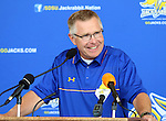 BROOKINGS, SD - AUGUST 11: John Stiegelmeier,<br /> Head Coach of South Dakota State University Football Team, addresses the media Monday afternoon at the Jacks Media Day in Brookings. (Photo by Dave Eggen/Inertia)