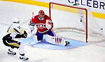 6 February 2010: Montreal Canadiens' goaltender Jaroslav Halak gives up a third period goal to Pittsburgh Penguins' center Evgeni Malkin on a breakaway at the Bell Centre in Montreal, Quebec, Canada. The Canadiens defeated the Penguins 5-3. Mandatory Credit: Ed Wolfstein Photographer