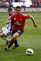 Real Valladolid´s Omar and Osasuna´s Marc Bertran during match of La Liga 2012/13. 31/03/2013. Victor Blanco/Alterphotos /NortePhoto