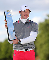 Winner Rory Mcilroy with the trophy - PGA European Tour Golf at Wentworth, Surrey 25/05/14 - MANDATORY CREDIT: Rob Newell/TGSPHOTO - Self billing applies where appropriate - 0845 094 6026 - contact@tgsphoto.co.uk - NO UNPAID USE
