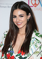 BEVERLY HILLS, CA - APRIL 20:  Victoria Justice at the Race to Erase MS 25th Anniversary Gala at the Beverly Hilton on April 20, 2018 in Beverly Hills, California. (Photo by Scott KirklandPictureGroup)