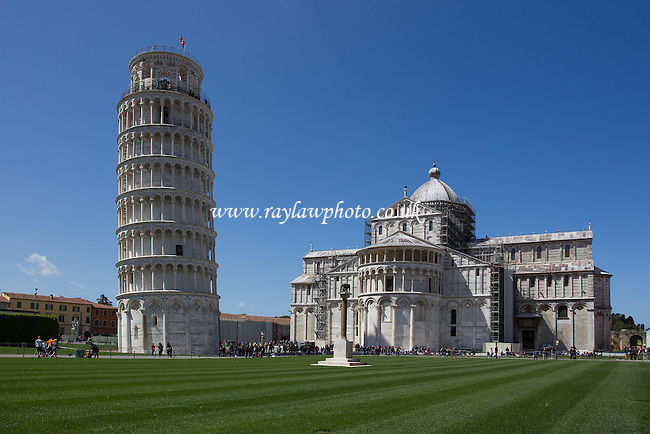 The Leaning Tower of Pisa and Duomo, the field of miracles  - Tuscany  - 27/04/16 - MANDATORY CREDIT:  Ray Lawrence Photography, www.raylawphoto.co.uk  - Self billing applies where appropriate -info@raylawphoto.co.uk, 07774985144  - NO UNPAID USE