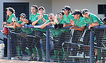 The Ranchos bench watches NIAA DI softball action against Reed High at the University of Nevada, in Reno, Nev., on Thursday, May 19, 2016. Reed won 2-0. Cathleen Allison/Las Vegas Review-Journal
