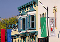 Restored Victorian buildings in downtown Columbus, Indiana. Columbus Indiana.