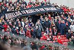03.03.2019 Aberdeen v Rangers: Aberdeen fans trying to insult Alfredo Morelos