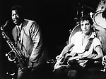 Bruce Springsteen 1980 with Clarence Clemons Los Angeles..© Chris Walter..
