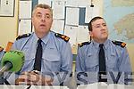 GARDAI: Speaking to the media at the Garda Press Conference in Killorglin Garda Station on Monday, l-r:  Superintendent John Gilligan of the Garda Press Office, Inspector Donal Ashe .
