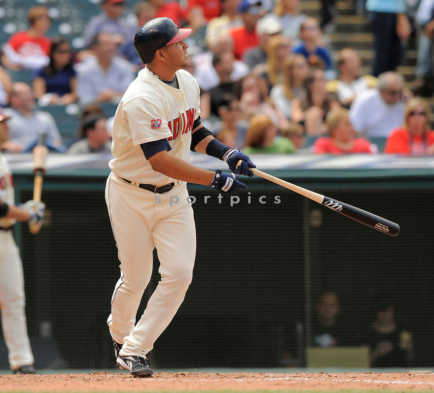 JHONNY PERALTA of the Cleveland Indians, in action during the Indians game against the Seattle Mariners on August 23, 2009 in Cleveland, OH. The Indians beat the Mariners 6-1...