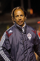 Colorado Rapids head coach Fernando Clavijo  before the start of the game. The Colorado Rapids defeated the LA Galaxy 1-0 during the preliminary rounds of the 2008 US Open Cup at Home Depot Center stadium in Carson, Calif., on Tuesday, May 27, 2008.