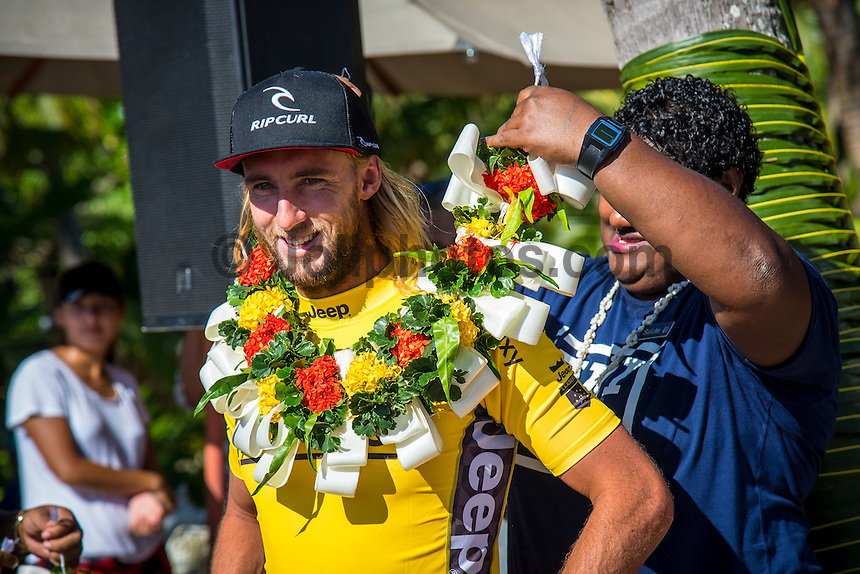 Namotu Island Resort, Nadi, Fiji (Friday, June 17 2016):   - The Fiji Pro, stop No. 5 of 11 on the 2016 WSL Championship Tour, wrapped up today at Cloudbreak with a consistent SSW swell in the 6'-8' range. Gabriel Medina (BRA)  took out the final over fellow goofy footer and ratings leader Matt Wilkinson (AUS). <br /> Medina has won twice in the last three years. The contest was completed in perfect conditions with a number of rides in the excellent range. Photo: joliphotos.com