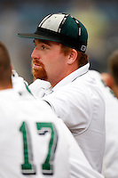 July 30, 2009:  Trainer Pat Amorelli of the Jamestown Jammers wears the rally cap during a game at Russell Diethrick Park in Jamestown, NY.  The Jammers are the NY-Penn League Short-Season Single-A affiliate of the Florida MarlinsPhoto By Mike Janes/Four Seam Images