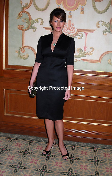 Melania Trump ..at The 18th Annual PAL  Women of the Year Luncheon  ..on October 17, 2006 at The Pierre Hotel. ..The honorees were Claudia Cohen, Pamela Thomas-Graham, Diana L Taylor and Melania Trump...Robin Platzer, Twin Images
