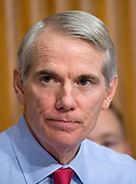 United States Senator Rob Portman (Republican of Ohio) listens as David J. Kautter, Acting Commissioner, Internal Revenue Service (IRS) and Assistant United States Secretary of the Treasury for Tax Policy testifies before the US Senate Committee on Finance on the President's Fiscal Year 2019 budget on Capitol Hill in Washington, DC on Wednesday, February 14, 2018.<br /> Credit: Ron Sachs / CNP