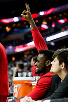 Washington, DC - MAR 10, 2018: Davidson Wildcats bench celebrates a three point basket during semi final match up of the Atlantic 10 men's basketball championship between Davidson and St. Bonaventure at the Capital One Arena in Washington, DC. (Photo by Phil Peters/Media Images International)