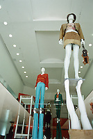 maniquins in an expensive clothing store in the exclusive neighbourhood of Polanco in Mexico City