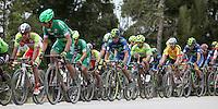 BOYACA - COLOMBIA: 07-09-2016. Aspecto del lote de ciclistas durante la primera etapa de la 38 versión de la vuelta Ciclista a Boyaca 2016 que se corre entre  Nobsa y Sogamoso. La prueba se corre entre el  7 y el 11 septiembre de 2016./ Aspect of the cyclists' peloton during the first stage of the Vuelta a Boyaca 2016 that took place between villages of Nobsa and Sogamoso. The race is held between 7 and 11 of September of 2016 . Photo:  VizzorImage/ José Miguel Palencia / Liga Ciclismo de Boyaca