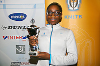 01-12-13,Netherlands, Almere,  National Tennis Center, Tennis, Winter Youth Circuit, Girls 16 years , 4 th place: Sylvia Okafor.<br /> Photo: Henk Koster