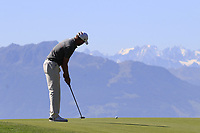 Scott Jamieson (SCO) putts on the 7th green during Saturday's Round 3 of the 2018 Omega European Masters, held at the Golf Club Crans-Sur-Sierre, Crans Montana, Switzerland. 8th September 2018.<br /> Picture: Eoin Clarke | Golffile<br /> <br /> <br /> All photos usage must carry mandatory copyright credit (&copy; Golffile | Eoin Clarke)