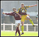 12/04/2003                   Copright Pic : James Stewart.File Name : stewart-arbroath v qots 05.ROSS CURRIE AND JIM THOMSON CHALLENGE FOR THE BALL....James Stewart Photo Agency, 19 Carronlea Drive, Falkirk. FK2 8DN      Vat Reg No. 607 6932 25.Office     : +44 (0)1324 570906     .Mobile  : +44 (0)7721 416997.Fax         :  +44 (0)1324 570906.E-mail  :  jim@jspa.co.uk.If you require further information then contact Jim Stewart on any of the numbers above.........