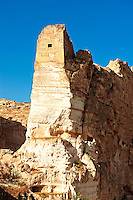 Ruins of the Ayyubids Small Palace in the citadel of ancient Hasankeyf overlooking the Tigris River. Turkey 3