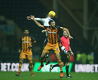 Hull City's Kevin Stewart battles with Preston North End's Alan Browne<br /> <br /> Photographer Stephen White/CameraSport<br /> <br /> The EFL Sky Bet Championship - Preston North End v Hull City - Wednesday 26th December 2018 - Deepdale Stadium - Preston<br /> <br /> World Copyright &copy; 2018 CameraSport. All rights reserved. 43 Linden Ave. Countesthorpe. Leicester. England. LE8 5PG - Tel: +44 (0) 116 277 4147 - admin@camerasport.com - www.camerasport.com