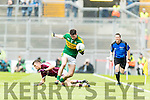 Daniel O'Brien Kerry in action against Micheál Foley Galway in the All Ireland Minor Football Final in Croke Park on Sunday.