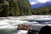 Spring Run-off on the Chilliwack River, Fraser Valley, BC, British Columbia, Canada - Cascade Mountains