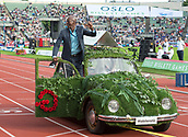 June 15th 2017, Bislett Stadion , Oslo, Norway; Diamond League Oslo Bislett Games;  Edward Moses attends the IAAF Diamond League held at the Bislett Stadium