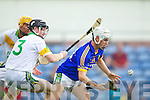 James McCarthy Kilmoyley  in action against Ricky Heffernan Lixnaw in the Semi finals of the Kerry Senior Hurling Championship at Austin Stack Park, Tralee on Saturday.