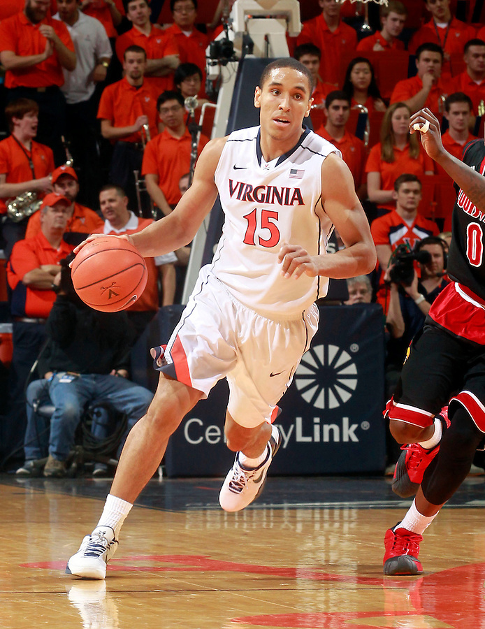 Virginia guard Malcolm Brogdon (15) during the game Saturday Feb. 7, 2015, in Charlottesville, Va. Virginia defeated Louisville  52-47. (Photo/Andrew Shurtleff)