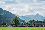 05.07.2019, Parkstadion, Zell am Ziller, AUT, TL Werder Bremen Zell am Ziller / Zillertal Tag 01<br /> <br /> im Bild<br /> Spieler vor Bergkulisse / Umgebung am Trainingsplatz, <br /> <br /> Foto © nordphoto / Ewert