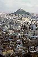 Athens: View of city from Acropolis. Photo '82.