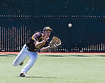 Galena centerfielder Charles Douglas makes the play on a line drive in the NIAA Division I Northern Region Baseball Championship between the Galena Grizzlies and the Reno Huskies played on Saturday, May 14, 2016 at Peccole Park in Reno, Nevada.
