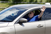 Pictured: A factory worker waves as he leaves the Ford engine plant in Bridgend, Wales, UK. Thursday 06 June 2019<br /> Re: An announcement on the proposed closure of Ford's Bridgend plant will be made today (Thursday).<br /> Ford Europe and bosses from the United States will meet union leaders at its Essex headquarters.<br /> The plant employs 1,700 workers from across south Wales.