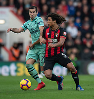 Bournemouth's Nathan Ake (right) battles with  Arsenal's Henrikh Mkhitaryan (left) <br /> <br /> Photographer David Horton/CameraSport<br /> <br /> The Premier League - Bournemouth v Arsenal - Sunday 25th November 2018 - Vitality Stadium - Bournemouth<br /> <br /> World Copyright &copy; 2018 CameraSport. All rights reserved. 43 Linden Ave. Countesthorpe. Leicester. England. LE8 5PG - Tel: +44 (0) 116 277 4147 - admin@camerasport.com - www.camerasport.com