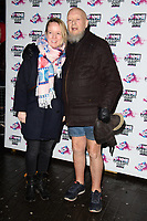 Emily and Michael Eavis<br /> arriving for the NME Awards 2018 at the Brixton Academy, London<br /> <br /> <br /> ©Ash Knotek  D3376  14/02/2018