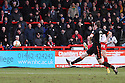 Dani Lopez of Stevenage scores his third goal. Stevenage v Sheffield United - npower League 1 -  Lamex Stadium, Stevenage - 16th March, 2013. © Kevin Coleman 2013.. . . .