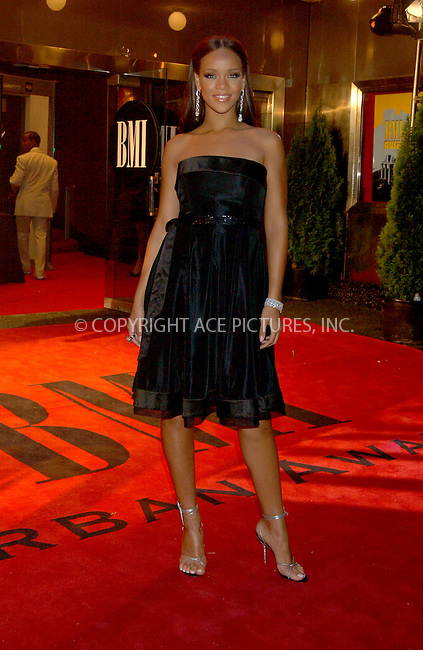 WWW.ACEPIXS.COM . . . . . ....August 30, 2006, New York City. ....Rihanna attends the 6th Annual BMI Urban Awards. ....Please byline: KRISTIN CALLAHAN - ACEPIXS.COM.. . . . . . ..Ace Pictures, Inc:  ..(212) 243-8787 or (646) 769 0430..e-mail: info@acepixs.com..web: http://www.acepixs.com