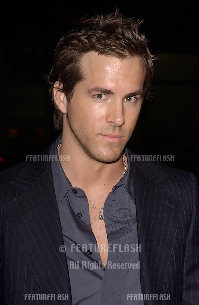 Dec 7, 2004; Los Angeles, CA: Actor RYAN REYNOLDS at the Los Angeles premiere of his new movie Blade: Trinity..