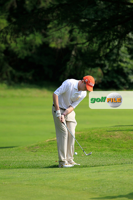 Paul Porter (Portumna) on the 14th during the Semi-Finals of the Irish Mixed Foursomes in Warrenpoint Golf Club on Thursday 4th September 2014.<br /> Picture:  Thos Caffrey / www.golffile.ie