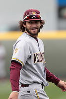 Andrew Alpin #21 of the Arizona State Sun Devils before a game against the UCLA Bruins at Jackie Robinson Stadium on March 16, 2012 in Los Angeles,California. UCLA defeated Arizona State 6-5.(Larry Goren/Four Seam Images)