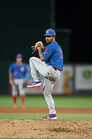 Clearwater Threshers pitcher Kyle Arjona (23) during a Florida State League game against the Palm Beach Cardinals on August 9, 2019 at Roger Dean Chevrolet Stadium in Jupiter, Florida.  Palm Beach defeated Clearwater 3-0 in the second game of a doubleheader.  (Mike Janes/Four Seam Images)