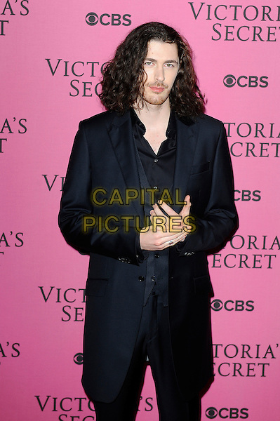 LONDON, ENGLAND - DECEMBER 2:  Hozier(Andrew Hozier-Byrne) attends the pink carpet for Victoria's Secret Fashion Show 2014, Earls Court on December 2, 2014 in London, England.<br /> CAP/MAR<br /> &copy; Martin Harris/Capital Pictures