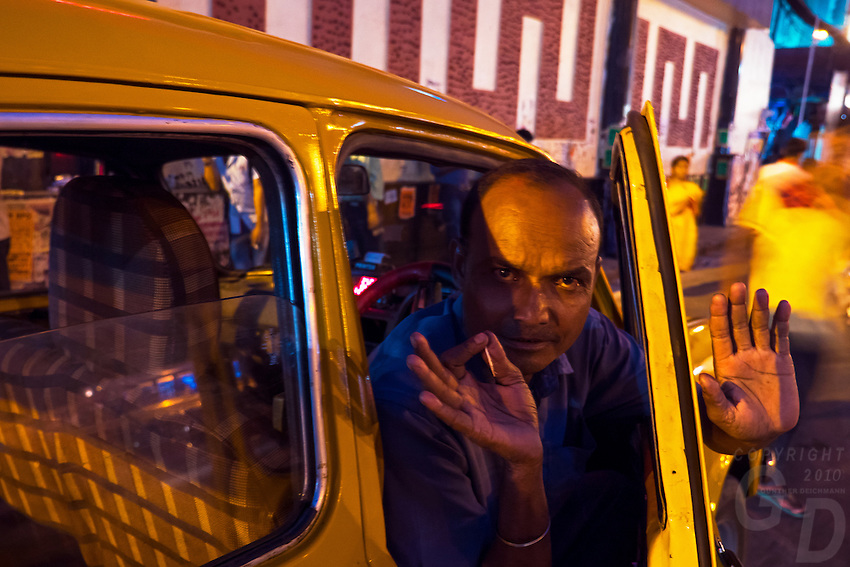 In the streets of Kolkata, West Bengal, India