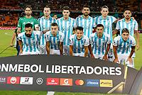 MEDELLIN-COLOMBIA, 18-02-2020: Jugadores de Club Atletico Tucuman (ARG), posan para una foto antes de entre Deportivo Independiente Medellin (COL) y Club Atletico Tucuman (ARG), por la Copa Conmebol Libertadores 2020 en el estadio Atanasio Girardot de la ciudad de Medellin. / Players of Club Atletico Tucuman (ARG), pose for a photo, prior a match between Deportivo Independiente Medellin (COL) and Club Atletico Tucuman (ARG), for the Copa Conmebol Libertadores 2020 at the Atanasio Girardot stadium in Medellin city. / Photo: VizzorImage  / Donaldo Zuluaga / Cont.