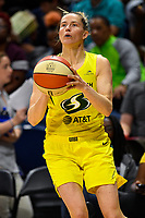 Washington, DC - June 14, 2019: Seattle Storm guard Blake Dietrick (11) sets up for a shot during game between Seattle Storm and Washington Mystics at the St. Elizabeths East Entertainment and Sports Arena in Washington, DC. The Storm hold on to defeat the Mystics 74-71. (Photo by Phil Peters/Media Images International)